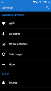 Blue and Black CM12 Theme v2.2