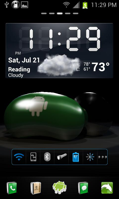 Jelly Bean 3D Live Wallpaper - screenshot