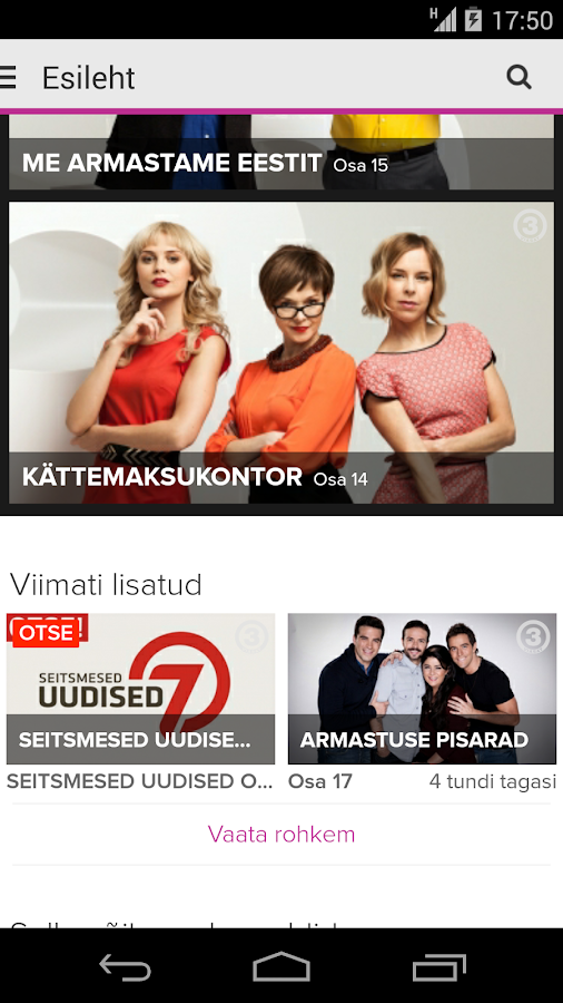 TV3 Play - Eesti - screenshot