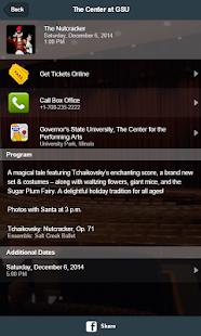 GSU Center for Performing Arts screenshot