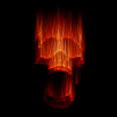Live Wallpaper - Flaming Skull