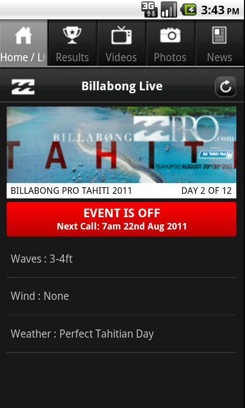 Billabong Live - screenshot