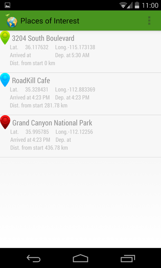 MyGeoTrails - screenshot