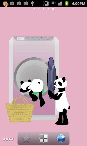 Panda washing Live Wallpaper 1.8 Windows u7528 6