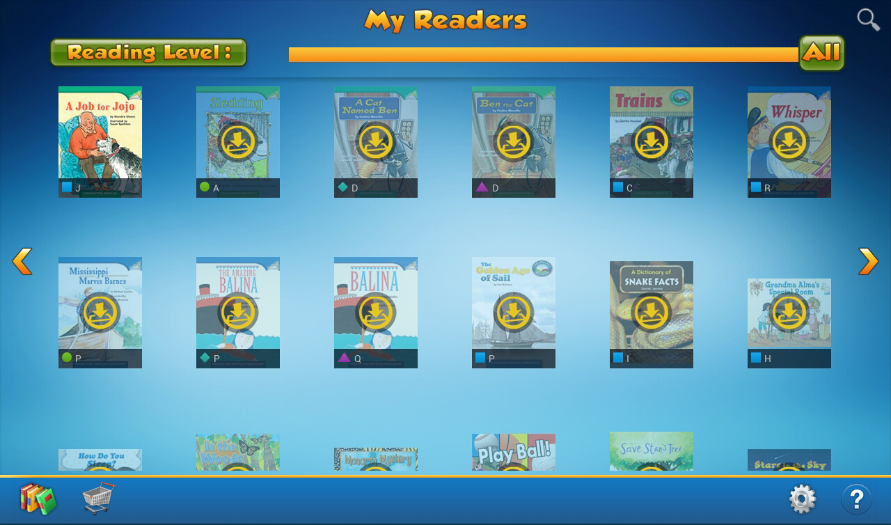 HMH Readers- screenshot