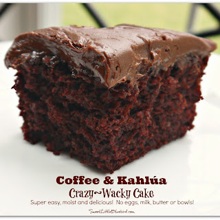 Coffee & Kahlúa Crazy/Wacky Cake