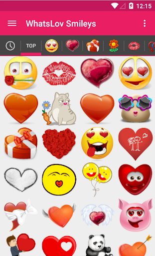 WhatsLov love smileys for chat