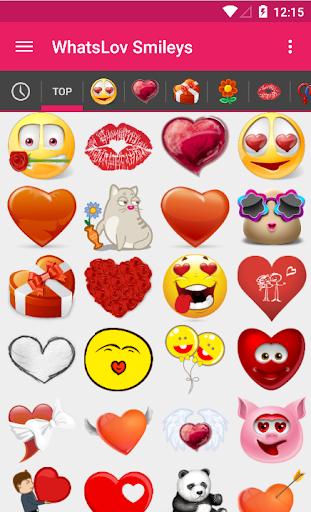 WhatsLov love smileys for chat
