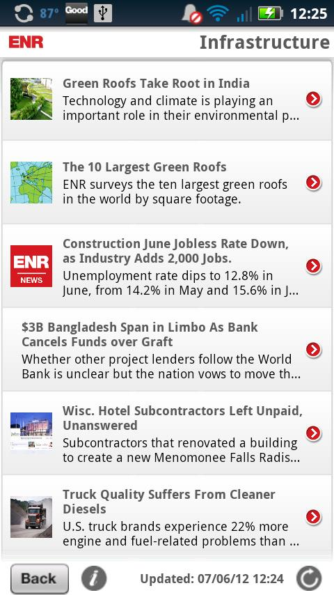 ENR Mobile News - screenshot