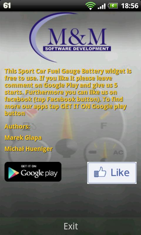 Sport Car Fuel Gauge Battery - screenshot