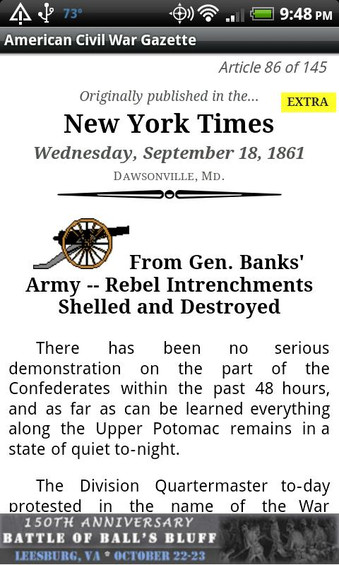 1862 Apr Am Civil War Gazette - screenshot