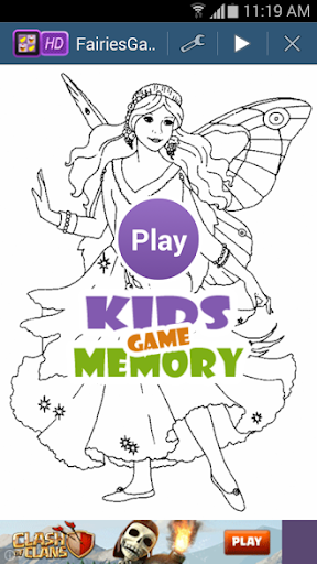 Fairies Memory Game For Kids