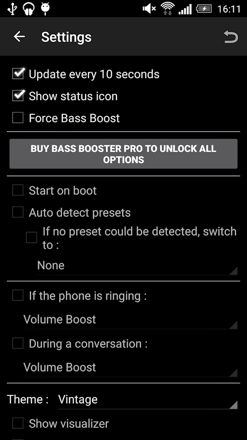 Bass Booster - screenshot