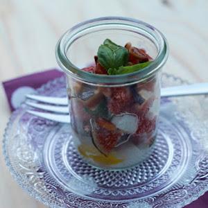 Fig, Mozzarella And Basil Parfaits