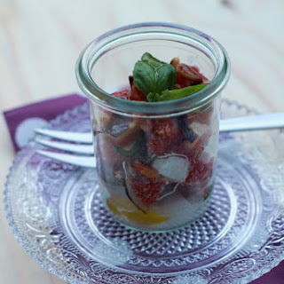 Fig, Mozzarella And Basil Parfaits