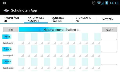【免費教育App】Schulnoten App-APP點子