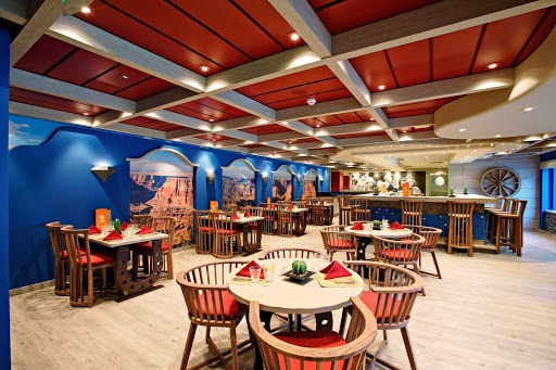 MSC-Splendida-Santa-Fe-Restaurant - Spend your evening with friends over a spicy Mexican feast in MSC Spendida's Tex Mex Santa Fe restaurant.