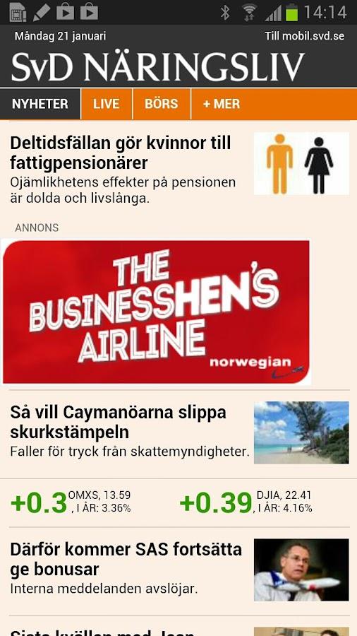 SvD Näringsliv - screenshot