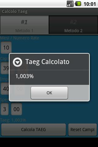 Calcolo Taeg - screenshot