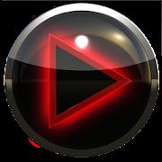 poweramp skin glow red icon