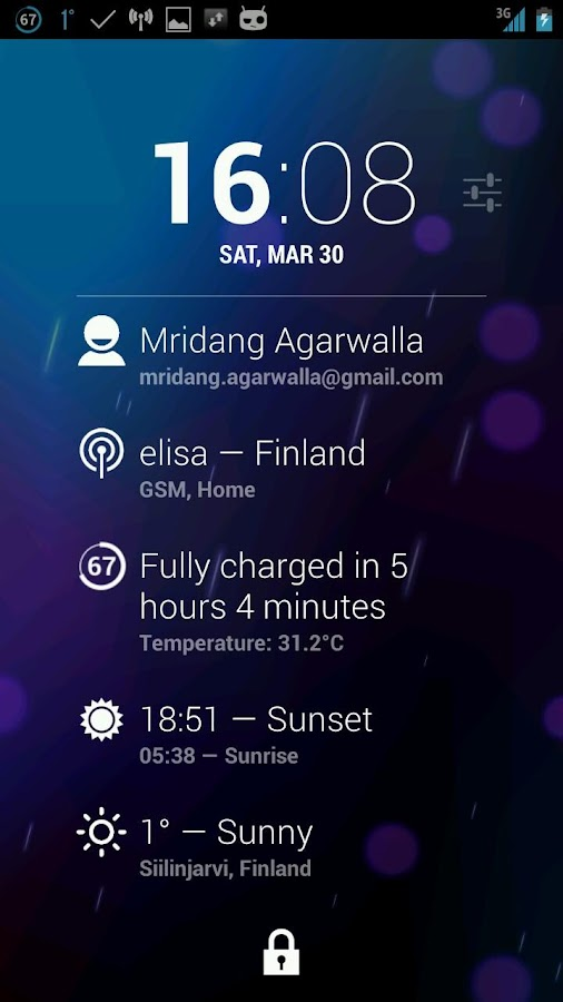 Dashclock Cellular Extension- screenshot