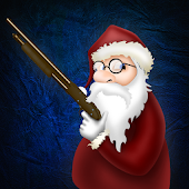 Santa Claus with a shotgun