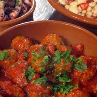 Spanish Meatballs With Chorizo.