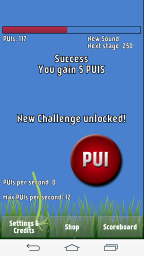PUI game full of mini tapgames