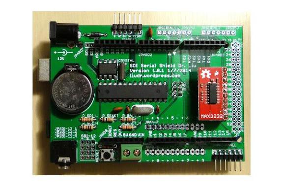 SDI-12 Serial logger shield - Liudr arduino and physics