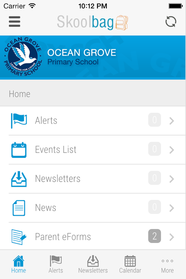 Ocean Grove Primary - Skoolbag- screenshot