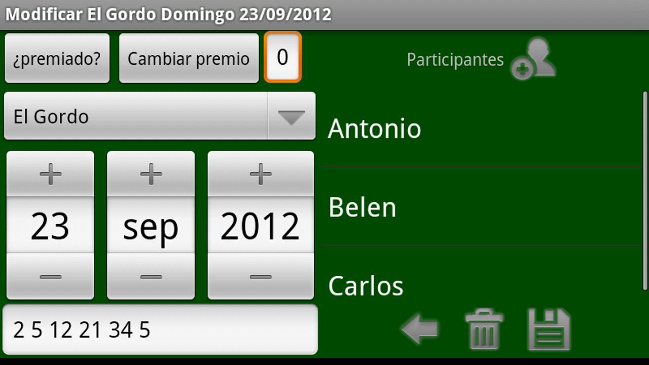Loterias y Apuestas de España - screenshot