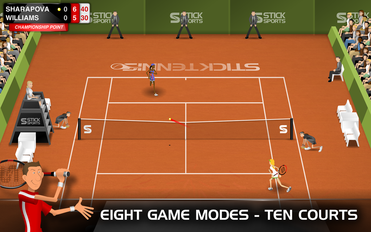 Stick Tennis - screenshot