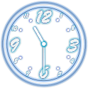 Analog Clock Neon Transparent icon