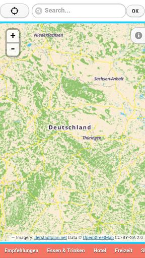Stadtplan für Deutschland