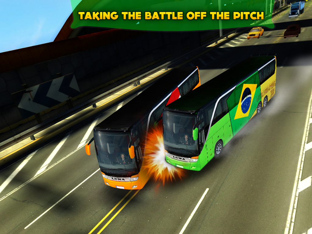 SOCCER TEAM BUS BATTLE BRAZIL Apl Android Di Google Play