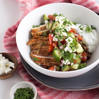 Greek Chicken Quinoa Bowls