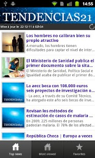 Tendencias21- screenshot thumbnail