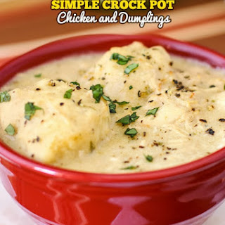 Simple Crock Pot Chicken and Dumplings