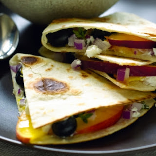 Fruit and Cheese Quesadillas.