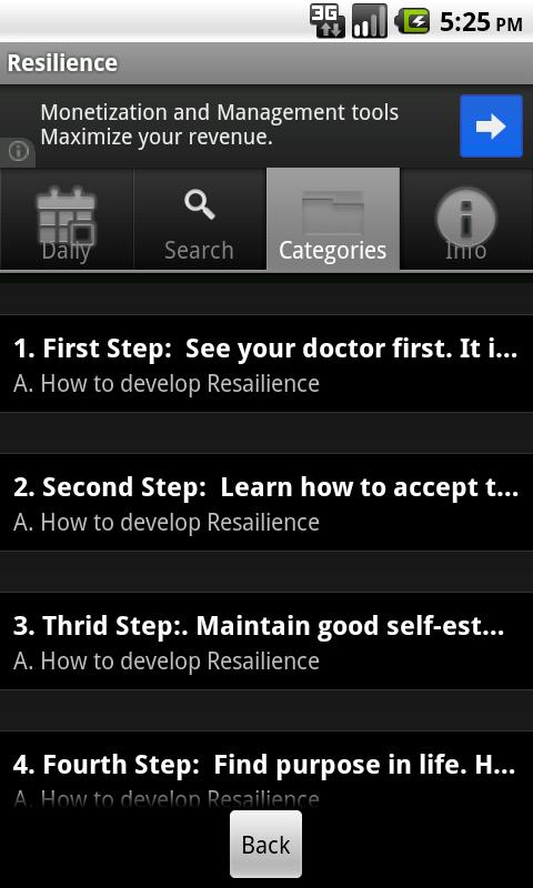 Develop Your Resilience - screenshot