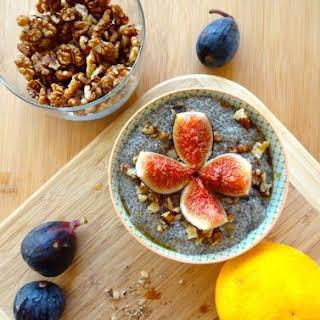Citrus & Fresh Fig Chia Seed Pudding.