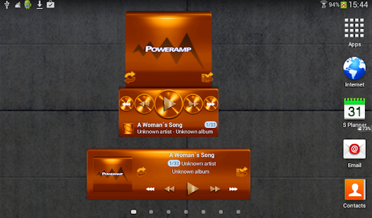 Poweramp widget - ORANGE METAL