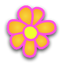 Flowers Digital Clock Widget icon