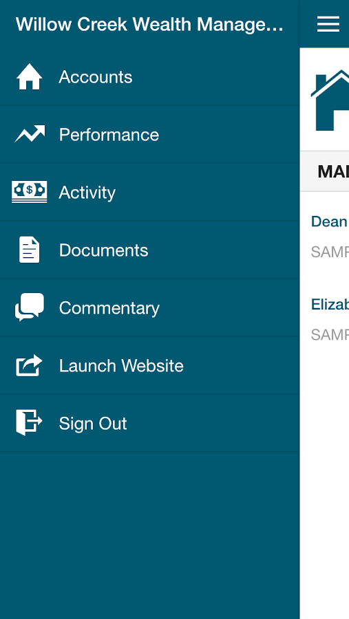 Willow Creek Mobile Advisor- screenshot