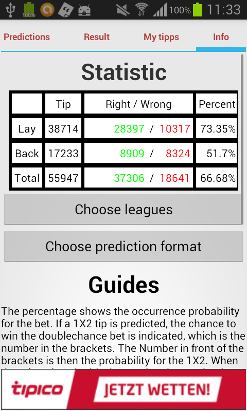Soccer Prediction - screenshot