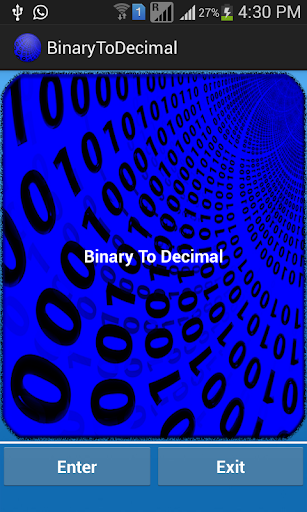 Binary to Decimal Converter