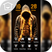 Sexy Man Muscle Fire Abs Theme