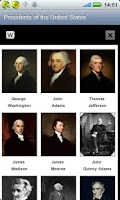 Screenshot of US Presidents