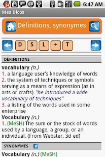 Mes dictionnaires free - screenshot thumbnail