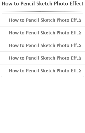 how to sketch photo